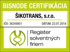 Certifikát solventnosti