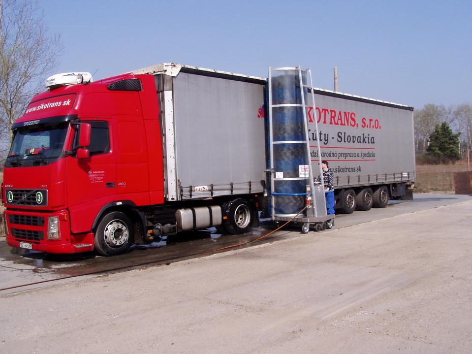 Umývanie nákladných vozidiel